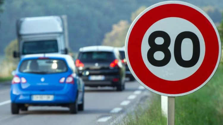 Limitation à 80 km/h des routes secondaires