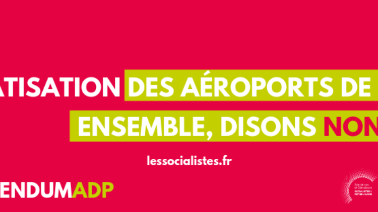 Non à la privatisation d'Aéroports de Paris